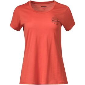 Bergans Graphic Uld-T-shirt Damer, orange